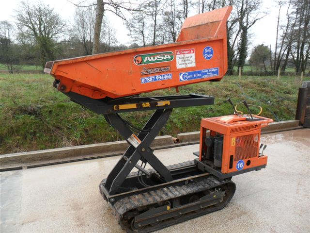 750kg high tip tracked power barrow c plant services for Motorized wheelbarrows for sale